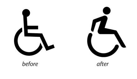 Vector Graphics-Before and After Handicap Logo Redesign