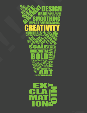 Vector Graphics Typographic Poster